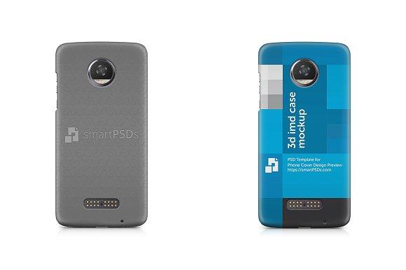 Moto Z2 Play 3D IMD Mobile Case