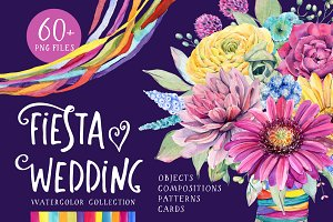 FIESTA WEDDING watercolor set