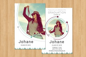 Senior Graduation Announcement-V595