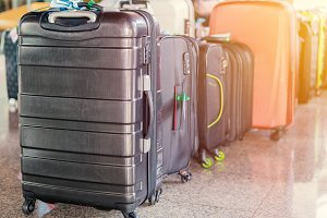 Luggage consisting of large suitcase