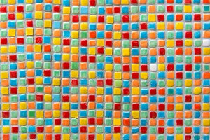 Mosaic tiles of Colorful abstract