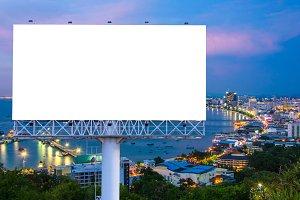 billboard or advertising poster