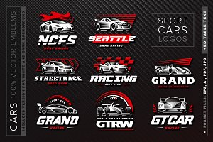 Sport cars logo set
