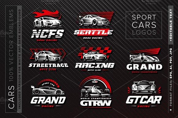 Sport Cars Logo Set Logo Templates Creative Market