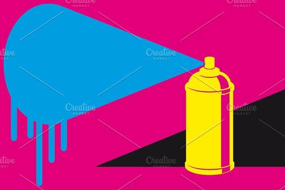 spray template illustrations creative market. Black Bedroom Furniture Sets. Home Design Ideas