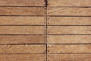 Natural wooden planks background.