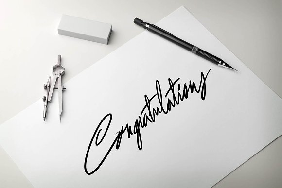 Congratulations Hand Lettering Word