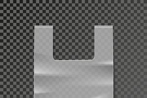 Vector plastic bag template