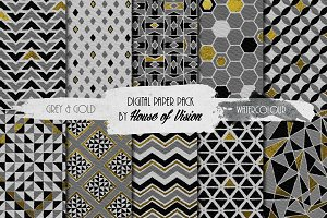 Grey Geometric Pack