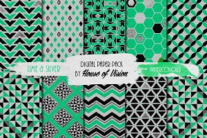 Lime Green Geometric Pack