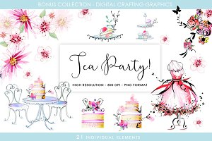 Digital Crafting  Set - Tea Party