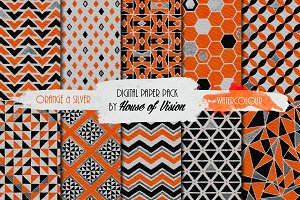 Orange Geometric Pack