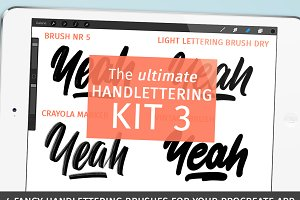 Procreate handlettering brushkit No3