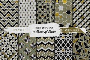 Olive Geometric Pack