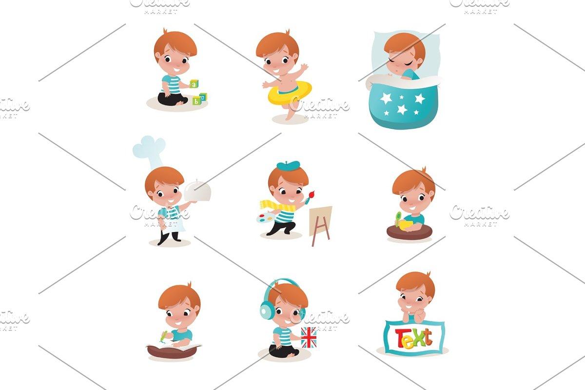 child activity illustrations