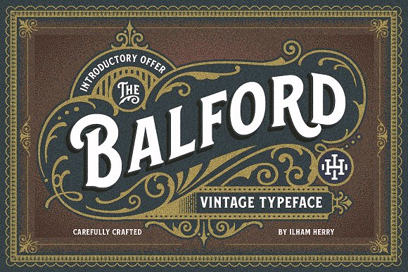 Balford Font And Ornament 50% Off