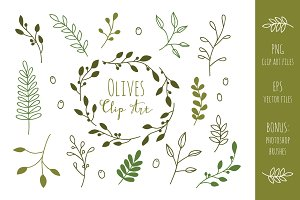Olive Branches Clip Art and Vectors