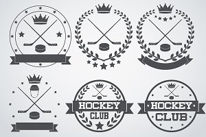 Set of Ice Hockey Club Labels 2