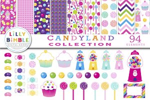 Candyland Paper and Clipart