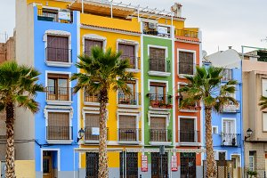 Multicolored houses on the square II