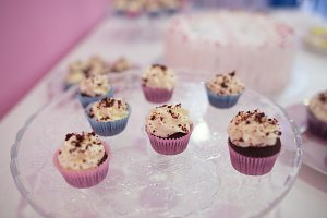 chocolate cupcake, set of cupcakes