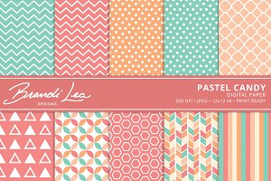 Pastel Candy Digital Paper