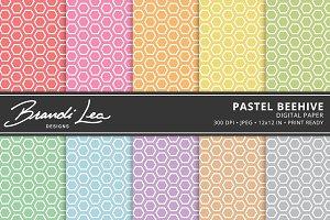 Pastel Beehive Digital Paper