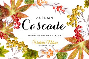 Autumnal Leaves Design Set: 6 pieces