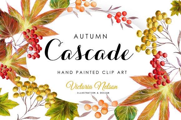 Autumnal Leaves Design Set 6 Pieces