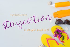 Staycation Script Casual Cursive
