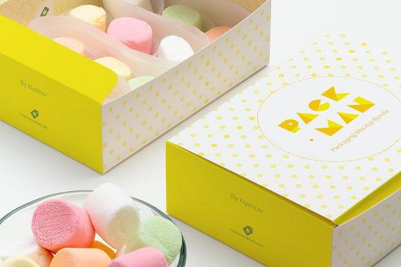 Free Sweet Box Mockup 04