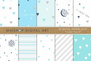 Digital Paper - I love you III
