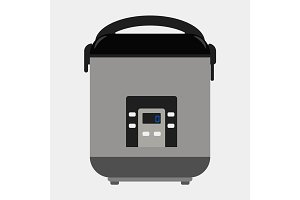 Multicooker vector icon