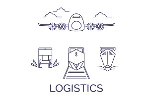 Logistics icons vector set