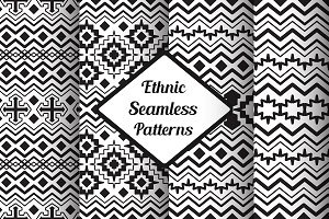 Vector Seamless Black&White Patterns