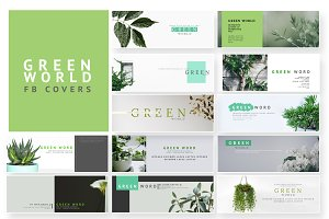 Green Word - FB Cover Pack