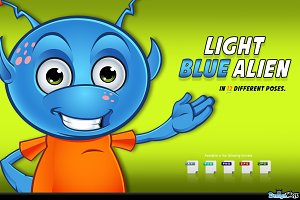 Light Blue Alien Character