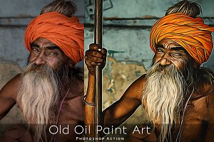 Old Oil Paint Art - Photoshop Action