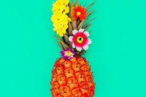 minimal style Pineapple art