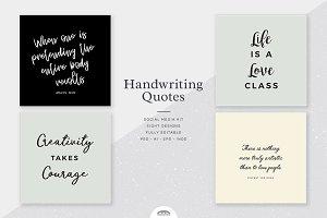 Handwriting Quotes Social Media Kit