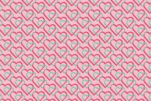 Seamless pattern of joint heart