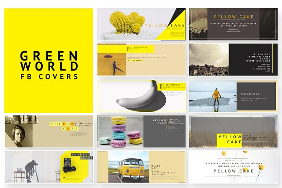 Yellow Cake FB Cover Pack
