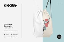 Drawstring Backpack Mockup Set