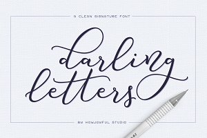 Darling letters font