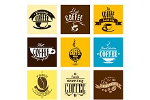 Hot fresh morning coffee cup banners
