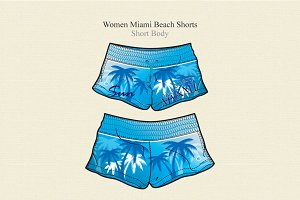Women Miami Beach Shorts