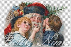 Santa Claus, Winsch 1914, clip art