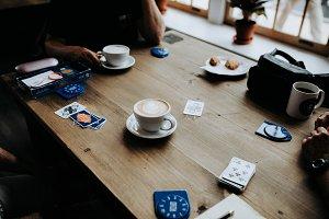Cards & Coffee w/Latte Art