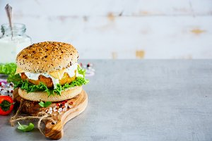 Carrot and oats burger
