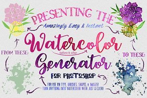 Watercolor Generator for Photoshop